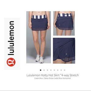 Lululemon Hotty Hot Skirt Cadet Blue Size 10